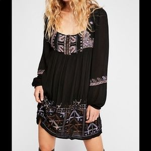 NEW Free People Rhiannon Embroidered Dress Small